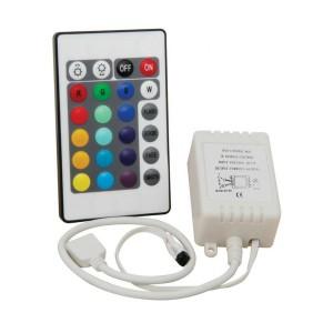 Controlador remoto RGB 12V 5 amperios con mando