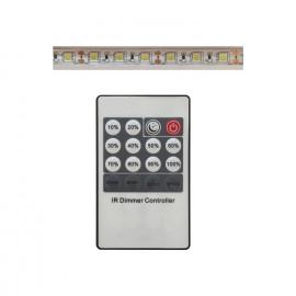 SET 5M TIRA LED LUZ BL. 15W / M 12V 3000K REGUL.